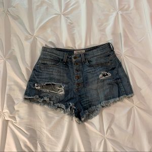 High waisted distressed denim Guess shorts